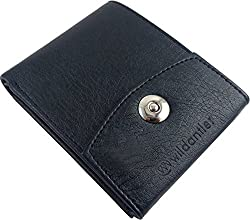 Wildantler Men Black Artificial Leather Wallet (6 Card Slots)