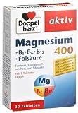 Doppelherz Magnesium 400+B1+B6+B12+Folsäure Tabletten, 2er Pack (2 x 38,1 g)