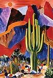 Toland Home Garten-Flagge, Kaktus, 31,8 x 45,7 cm, dekorativ, bunt, Südwesten Wüste, Berg