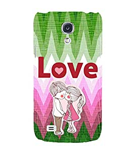 EPICCASE first kiss Mobile Back Case Cover For Samsung Galaxy S4 Mini (Designer Case)