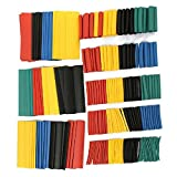 #6: Leoie 328Pcs Heat Shrink Tubing 2:1 Colorful Car Electrical Cable Heat Shrink Tube Tubing Wrap Wire Sleeve