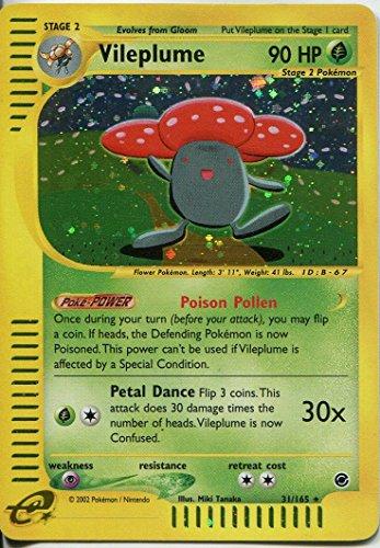 Pokemon Expedition Holofoil Card #31/165. Vileplume