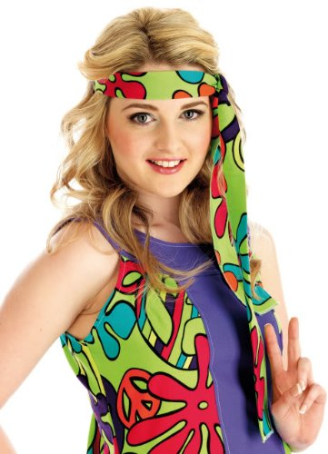 Uv Large Floral Hippie Costume Floral Manor