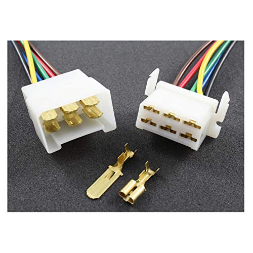Tama Kabel/Draht Multi Plug Block Steckverbinder 6-Fach mit Crimpklemmen (2 Set Stecker/Buchse)