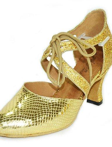 La mode moderne Non Sandales Chaussures de danse pour femmes personnalisables Glitter Paillettes mousseux mousseux Amérique talons Talon noir intérieur Or Gris argent US10.5 / EU42 / UK8.5 / CN43