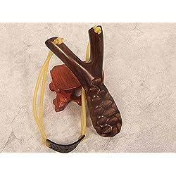 TERMV De Alta Velocidad Hechos A Mano De Madera Slingshot Sandalwood Catapult Tradicional Sling Shot Juegos De Caza Al Aire Libre De Mármol,A