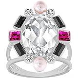 Anello Swarovski modello Blanche palladiato con cristalli multicolore e perle taglia 55 M media 5069770