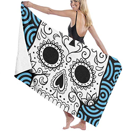 xcvgcxcvasda Badetuch, Soft, Quick Dry, Microfiber Travel Towel,Camping Towel, Gym Towel, Sports Towel, Swimming Towel - Color Sugar Skull Print - Club-formel Sams