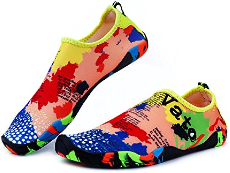 LanQiu Zapatillas de Agua Unisex de Secado rápido para natación, Senderismo, Yoga, Lago, Playa, jardín, Parque