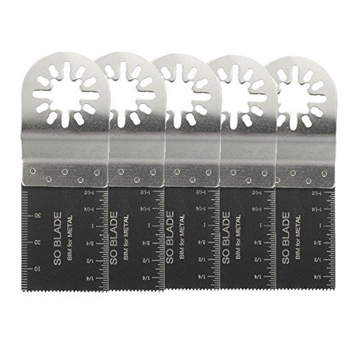 ChaRLes 5 Stücke 35Mm Bi-Metall Klingen Oszillierende Multitool Sägeblätter