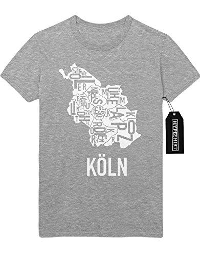 T-Shirt KÖLN CITY Map A258768 Grau