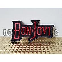 Bon Jovi parche | música banda Logo | alta calidad | hierro en parche Sew bordado de hierro | insignias para ropa | tamaño: 9,5cm x 5cm