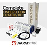 Warm Star Electric underf mano Heating Mat Kit + Termostato 200W per M2All Sizes in This Listing–Lifetime Warranty–PREMIUM undertile Heating System with Dual Core Technology (1.0m2, Touch Screen Termostato) by Warm Star