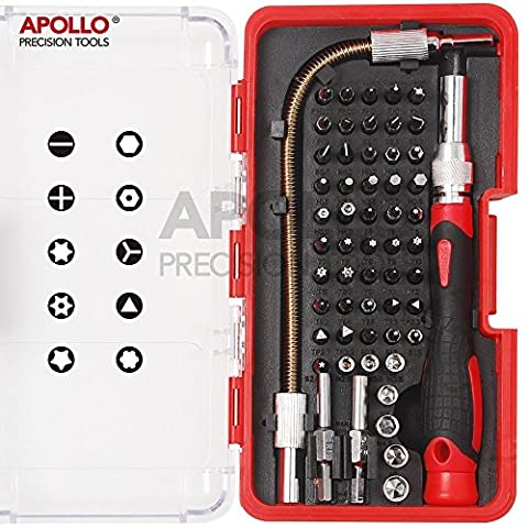 Apollo 58 Piece Electronics Bit Set (Repair of Mobile phones, Iphone, Macbook Air & Pro, PDA, PC, Laptops, LCD screens, Tablets, Watches, Nintendo, Game Boy, PS2, xBox and