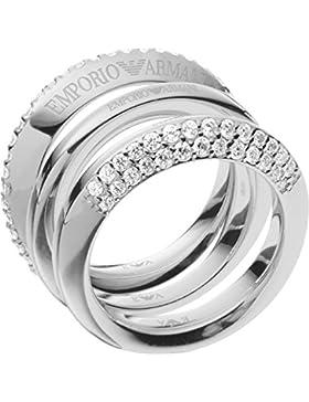 Emporio Armani Damen-Ring 925er Silber Zirkon (silber)