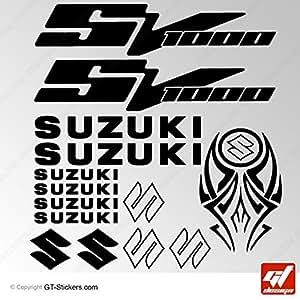 Stickers SUZUKI SV1000 - NOIR - SV 1000, SV-1000, Stickers , adhésifs, autocollants, gt-design