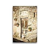 Premium Textil-Leinwand 30 x 45 cm Hoch-Format Hauseingang | Wandbild, HD-Bild auf Keilrahmen, Fertigbild auf hochwertigem Vlies, Leinwanddruck von Wolfgang Zwanzger