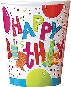 Partido Ênico 9 oz cumpleaños Jamboree Paper Cups (paquete de 8)