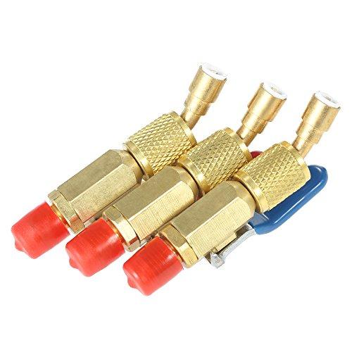 Vislone 3PCS Klimaanlage Kältemittel R410A R134A Absperrventile für die HLK-Kühlung Aufladen Schläuche.
