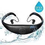 YAMAY Lettore MP3 Impermeabile Auricolari Nuoto Cuffia Piscina 8GB Disco U...