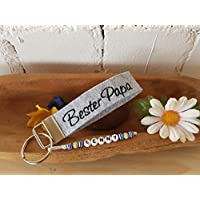 StoffJuLe Schlüsselanhänger aus Filz mit Namen/Widmung/Geschenk mit Namen/Schlüsselband mit Wunschtext
