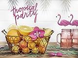 Partyset Komplettset Hawaii Aloha pink grün 75 teilig Partygeschirr Geburtstag bis 12 Personen Kindergeburtstag Sommer Gartenparty Teller Becher Servietten Party Deko - 5