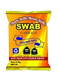 #8: Swab Garbage Bags Size Medium 19 inch X 21 inch (Black) Pack of 06( 180 Bags)(Trash Bag/ Dustbin Bag)