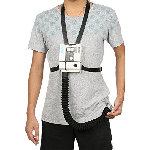 Wellgift Poe Dameron Brust Box Halloween Pilot X Wing Kunststoff Kommunikator Modell mit Gurt Cosplay Kostüm Fancy Dress Merchandise Kostüm - Xwing Pilot Kostüm