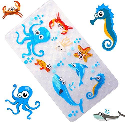 WARRAH Multi-purpose bath mat / PVC material for baby mat mat no mat for children and Octopus Fish shower