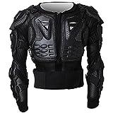 Chaqueta de Protección para Motocross Motos Ropa Protectora de Cuerpo Armadura Completo Profesional de Motocicleta Deportiva Para Hombres Columna Vertebral Hombro Pecho ( Negro, XL )
