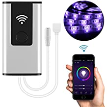 Controlador inteligente WiFi inalámbrico LED para 5050/3528 RGB Tira de luz LED Trabajar con Alexa Google Inicio Sistema Android IOS Control de APP para teléfono móvil con música / sincronización