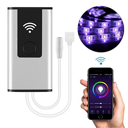 Controlador inteligente WiFi inalámbrico LED para 5050/3528 RGB Tira de luz LED Trabajar con Alexa Google Inicio Sistema Android IOS Control de APP para teléfono móvil con música/sincronización