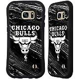 Officiel NBA B&W Marbre Chicago Bulls Étui Coque Hybride pour Samsung Galaxy S7 edge