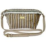 Goldmarie Umhängetasche Streifen Muster - Canvas Tasche creme beige