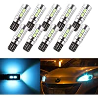 S & D 10x T10W5W 10SMD Canbus OBC senza errori LED Blubs Stop Luce DC-12V Rosso