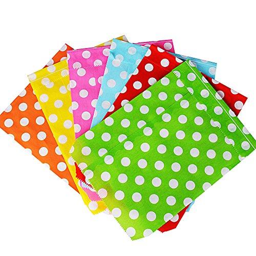 13 * 18cm 150 Pezzi Sacchetti Bustine di Carta Borse per Alimenti Cibo Dolci Regalo Caramella Biscotti Gioielli Paper Bags