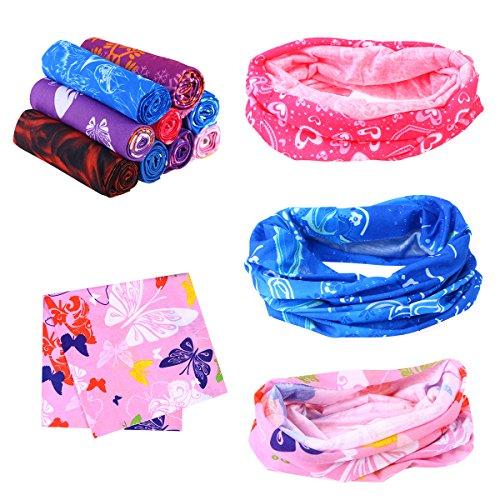 Frcolor 9pcs fasce multifunzionali, copricapo sportivo bandana elastico magico copricapo esterno sciarpa a bandana per uomo donna unisex