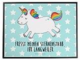 Mr. & Mrs. Panda Schreibtischunterlage Einhorn Happy - 100% handmade in Norddeutschland - Einhorn, Einhörner, Unicorn, glücklich, fröhlich, Spaß, Freude, Lebensfreude, witzig, spannend, Lächeln, Lachen Schreibtischunterlage, Schreibtisch, Unterlage Einhorn, Einhörner, Unicorn, glücklich, fröhlich, Spaß, Freude, Lebensfreude, witzig, spannend, Lächeln, Lachen