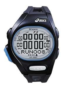 Asics Unisex Race CQAR0202 Black Polyurethane Quartz Watch with Digital Dial
