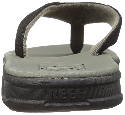 Reef Rover, Tongs Homme, Noir / Blanc, 9 EU Vert
