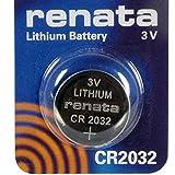 Renata CR2032 3V Lithium Münze Zelle Uhr Batterie DL2032, ECR 2032, BR 2032 (2 X CR 2032)