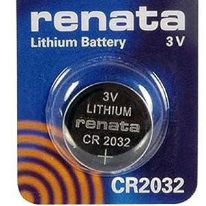 Renata CR20323V Lithium Knopfzelle Uhrenbatterie DL2032, ECR 2032, BR 2032