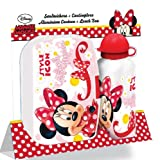 Saverschoice UK Lunchbox/Brotdose mit Trinkflasche, Design Minnie Maus, Flasche aus Aluminium