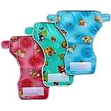 MY NEWBORN Baby Fancy Bibs Teddy Design -Pack Of 6 Pcs (Multi_Last3-L)