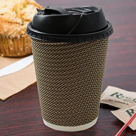 Disposable Insulated Ripple Coffee Tea Paper Hot Cups 51mTlvVxCPL