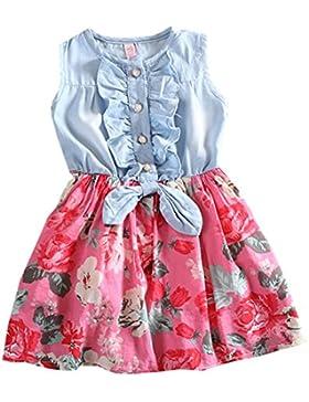 Guandiif Ropa De La Muchacha Niños Flor grande Princesa vestido de sin Mangas