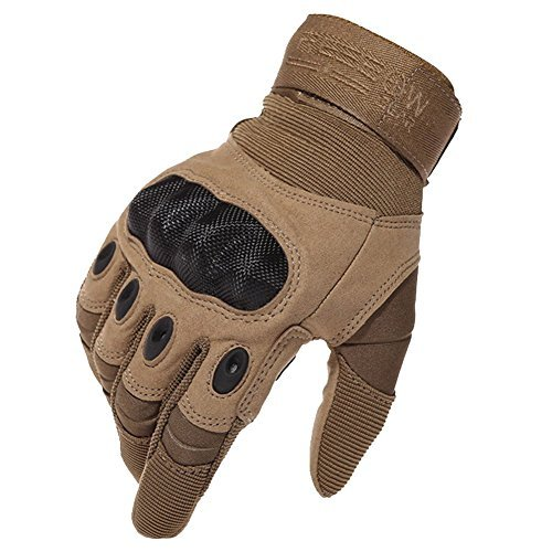 Reebow Gear Herren voll Finger Handschuhe Army Racing Gloves Fahrradhandschuhe (Braun, L(9'/22cm-24cm))