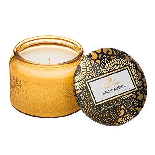 Voluspa Petite Glass jar Candle in Baltic Amber -