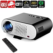 Generico GP90 GP HD Projector - Android, Wi-Fi, DLNA, Airplay, Miracast, HD Resolution, 1080P Support, 3200 Lumen, 40 To 280 Inch Image