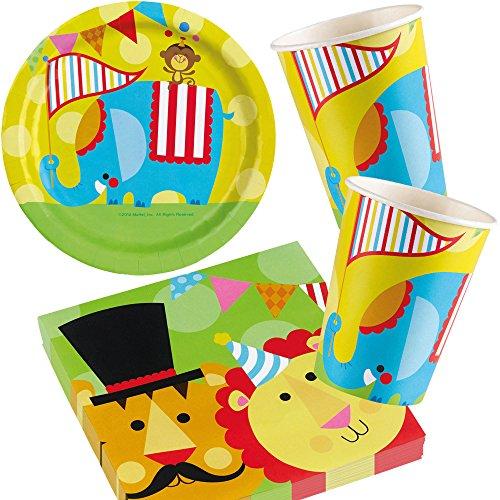 Lot de 37décorations Party * Cirque * avec assiette + Gobelet + Set de serviettes +//de Fisher Price/décorations/anniversaires d'enfants Set de fête d'anniversaire pour enfants PARTY Devise Devise Ballons Fisher Price Pêcheurs Circus